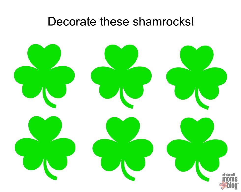 Shamrocks Coloring Pages Shamrock Coloring Page Best Of Pages To Print Info  Shamrock Coloring Pages Free