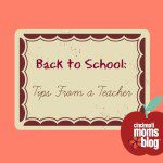 Back to School: Tips from a Teacher