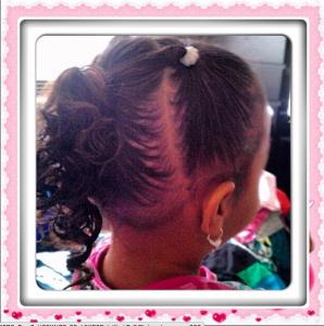 biracial hairdo