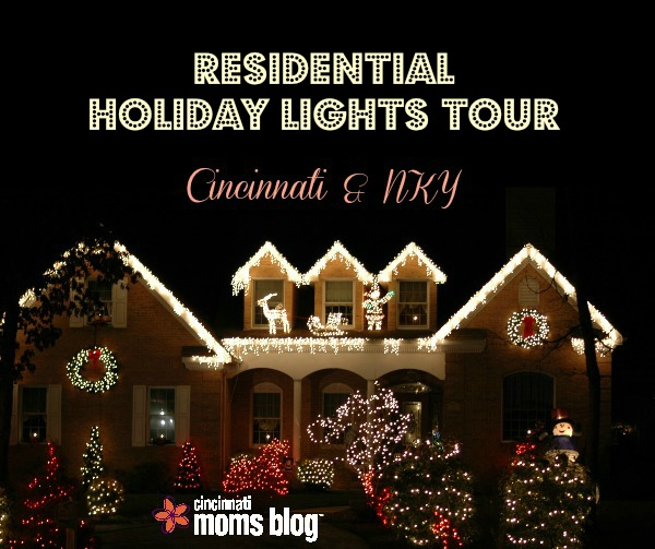 residential holiday lights tour