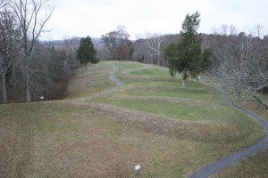 Serpent Mound as viewed from the observation tower