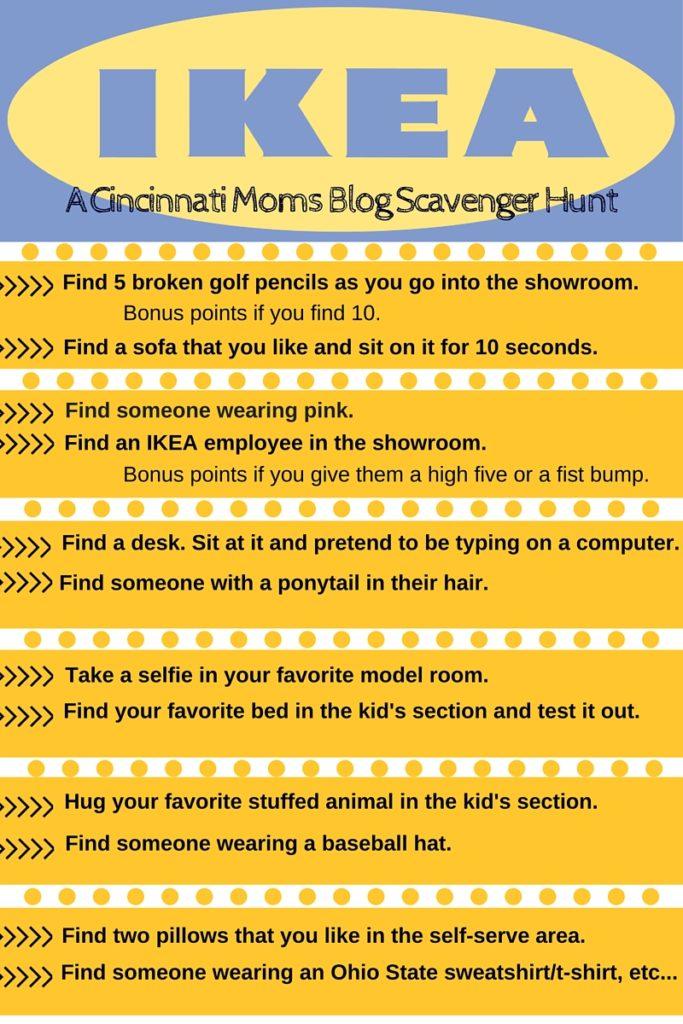 9bbd5ea3de6 A Cincinnati Moms Blog Scavenger Hunt  IKEA Edition  With Printable