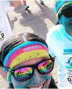 During the All-Star Week Color Run