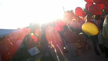 From one of the Light the Night Walks I participated in to honor my husband