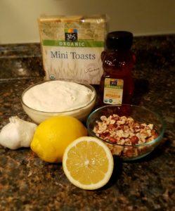 Sweet Nutty Ricotta Mini Toasts Ingredients