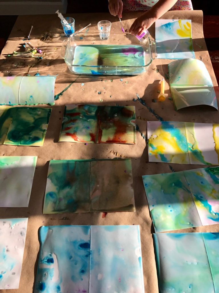 Kid Craft: Marbled Milk Thank-You Notes