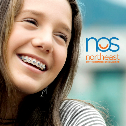 Northeast Orthodontic Specialists Girl with Braces