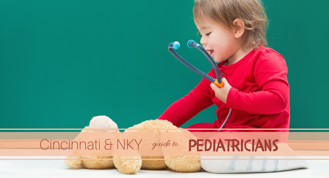 Child with Teddy Bear and Stethoscope Pediatrician Guide Title Image