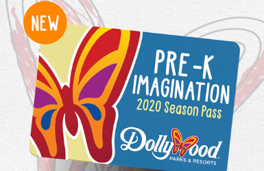 A rendering photo of the Dollywood Pre-K Imagination Pass