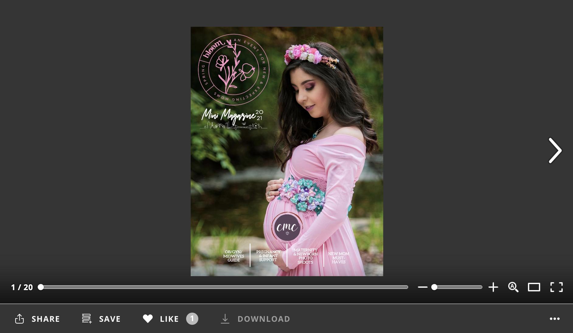 cmc bloom spring 2021 mini magazine